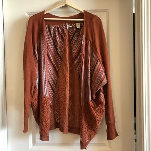 Rustic brown cardigan